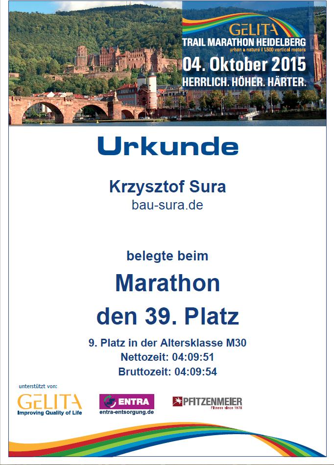 maraton certifikat